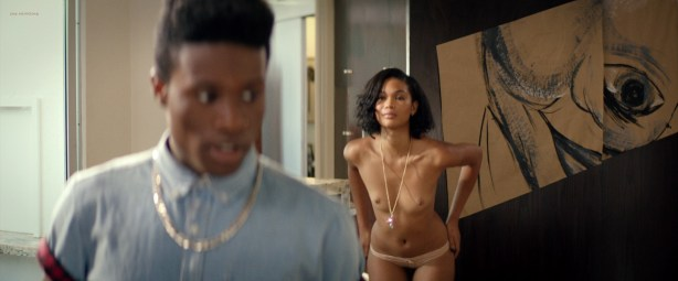 Chanel Iman nude topless - Dope (2015) HD 720-1080p BluRay (6)