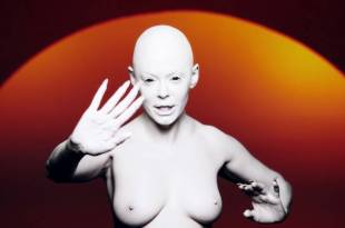 Rose McGowan nude topless in music video: RM486 (6)