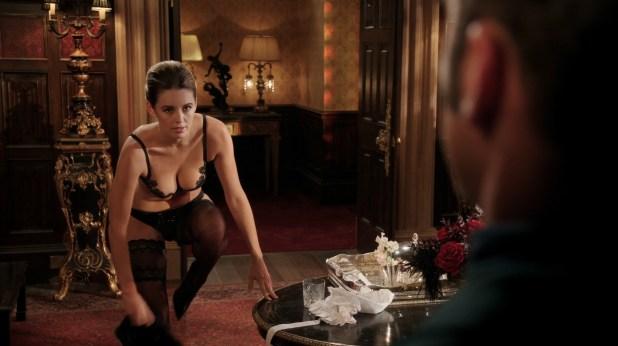 Keeley Hazell hot in black lingerie - The Royals (2015) s2e4 HD 720-1080p (3)