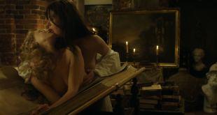 Sarah Gadon nude nipple and Malin Buska nude and lesbian sex – The Girl King (2015) HD 1080p BluRay (9)