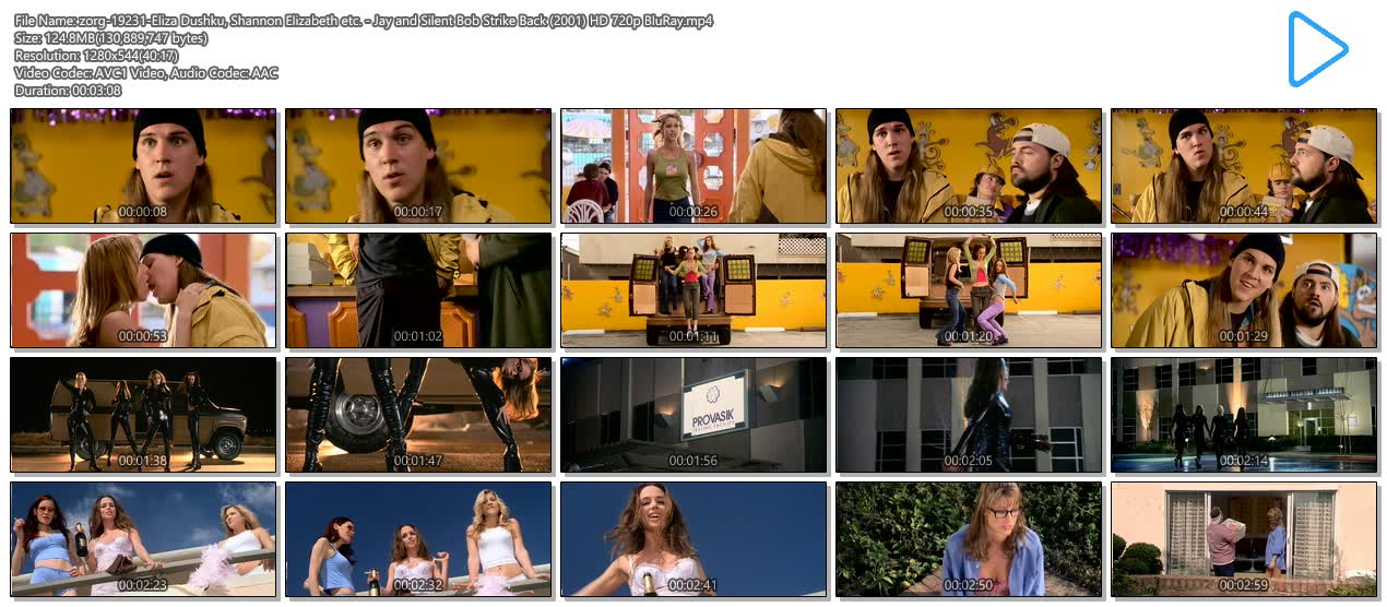 Eliza Dushku hot Shannon Elizabeth hot and busty other's sexy. - Jay and Silent Bob Strike Back (2001) HD 720p BluRay (13)