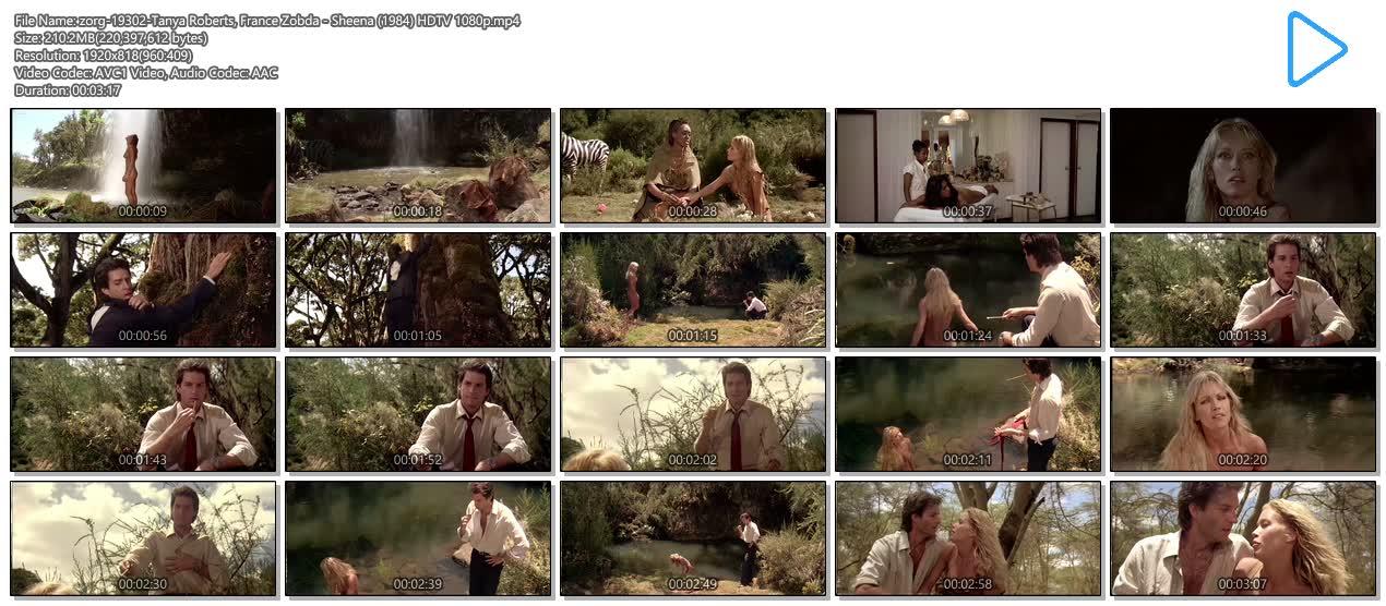 Tanya Roberts nude topless butt and France Zobda nude butt - Sheena (1984) HDTV 1080p (13)
