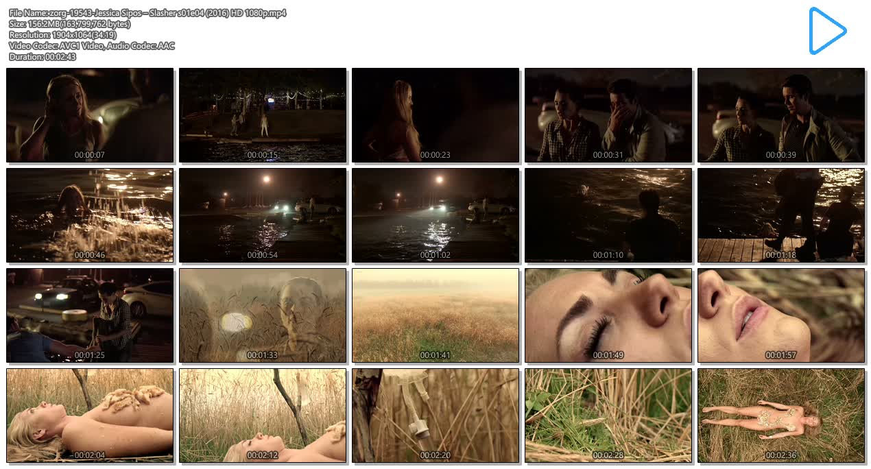 Jessica Sipos nude side boob, skinny dipping – Slasher s01e04 (2016) HD 1080p (7)