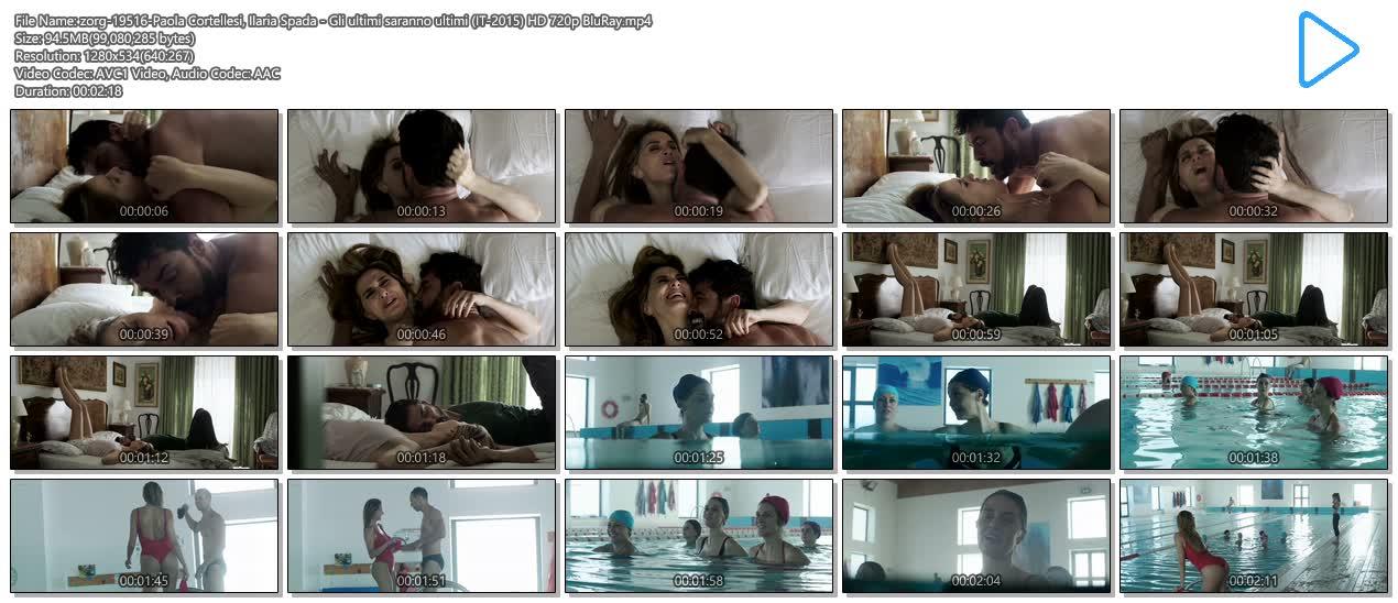Paola Cortellesi hot sex and Ilaria Spada very hot butt in swim suit - Gli ultimi saranno ultimi (IT-2015) HD 720p BluRay (9)