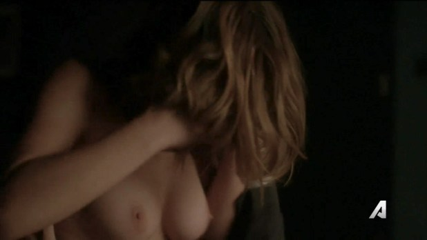 Ashley Greene nude topless and sex - Rogue (2016) S04E05 HDTV 720p (6)
