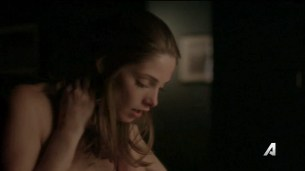 Ashley Greene nude topless and sex - Rogue (2016) S04E05 HDTV 720p (4)
