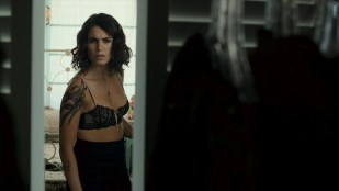 Nikki Reed hot and sexy in see through bra  - Murder of a Cat (2014) HD 1080p BluRay