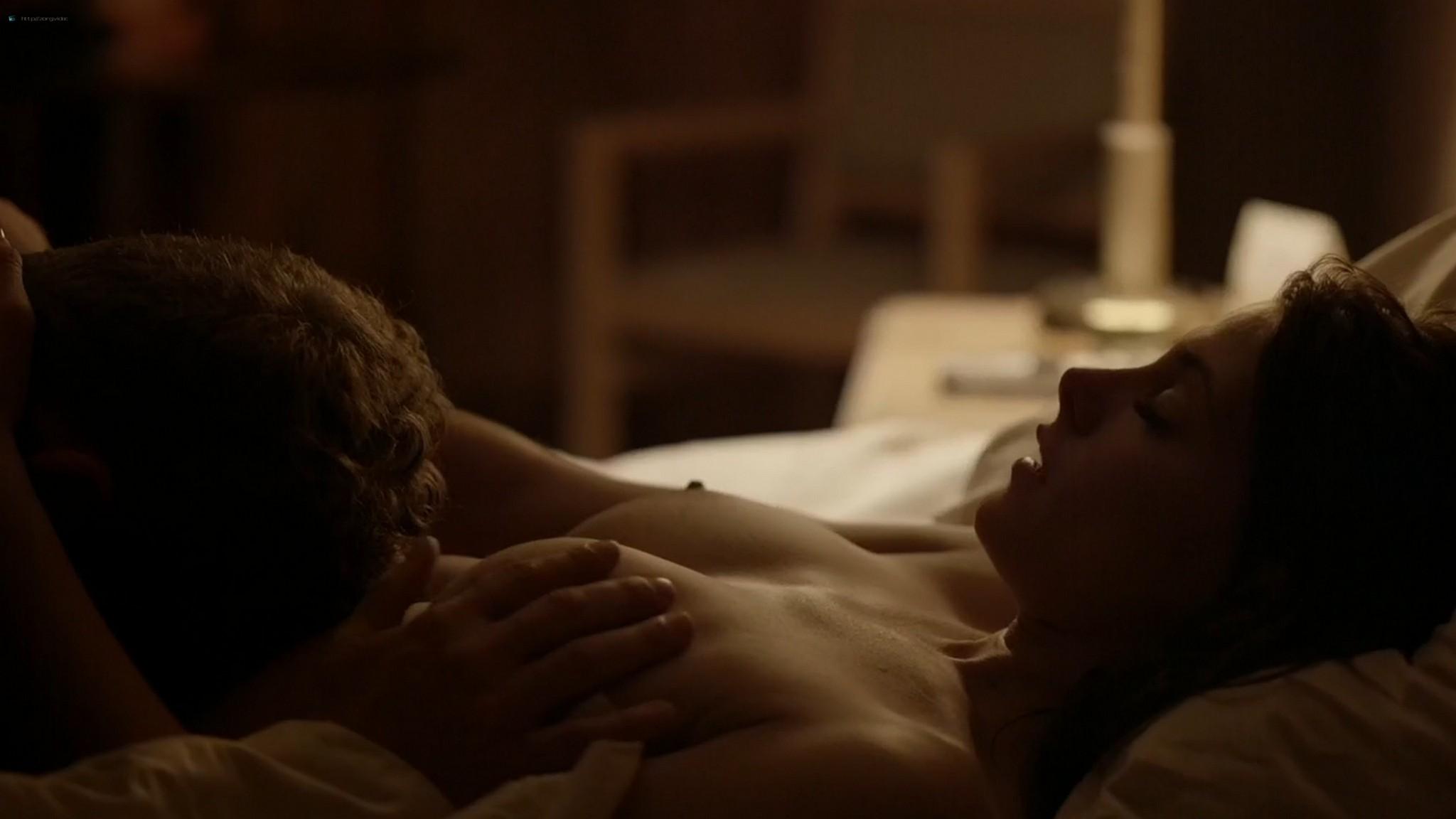 Ashley Greene nude topless riding a dude - Rogue (2016) s3e18 HD 1080p (4)
