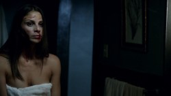 Eliza Dushku hot and bound and Ana Ayora nude topless in shower - Banshee (2016) s4e7 HD 1080p (7)