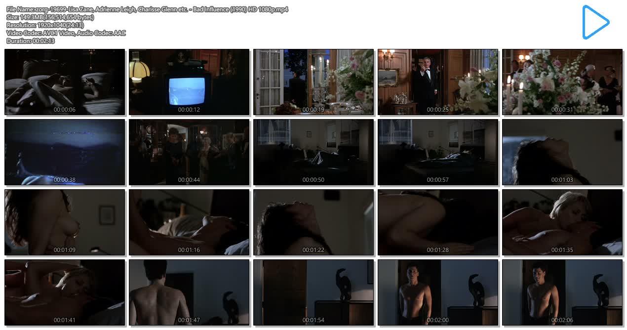 Lisa Zane nude sex Adrienne Leigh and Charisse Glenn nude sex threesome - Bad Influence (1990) HD 1080p (6)