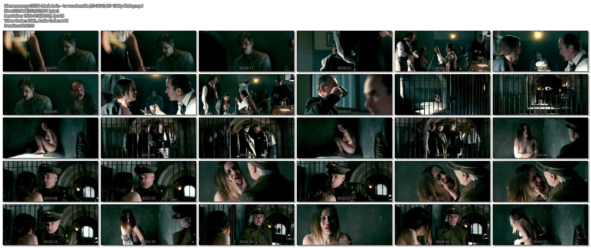 Maria Leon nude in - La voz dormida (2011) HD 1080p BluRay (1)