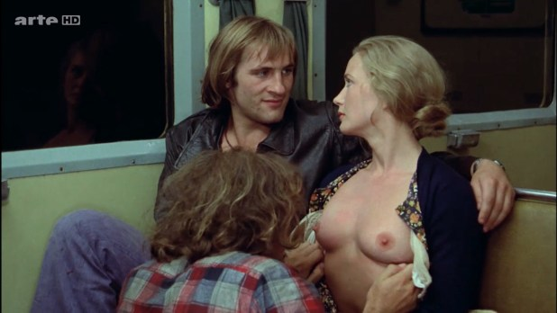 Miou-Miou nude bush, boobs and full frontal with Brigitte Fossey and Isabelle Huppert nude too - Les valseuses (FR-1974) HDTV 720p (11)