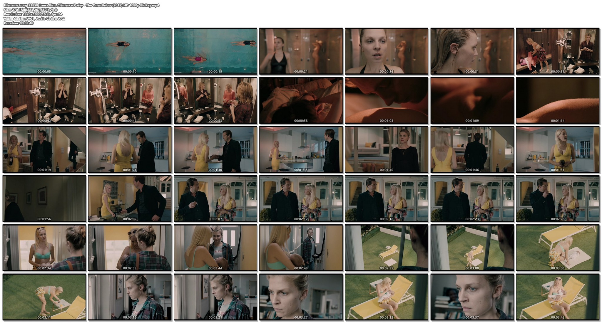 Laura Birn nude in shower Clémence Poésy hot some sex too - The Ones Below (UK-2015) HD 1080p BluRay (1)