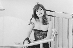 Marie-France Pisier nude but covered Prima Symphony nude - Trans-Europ-Express (1966) (7)