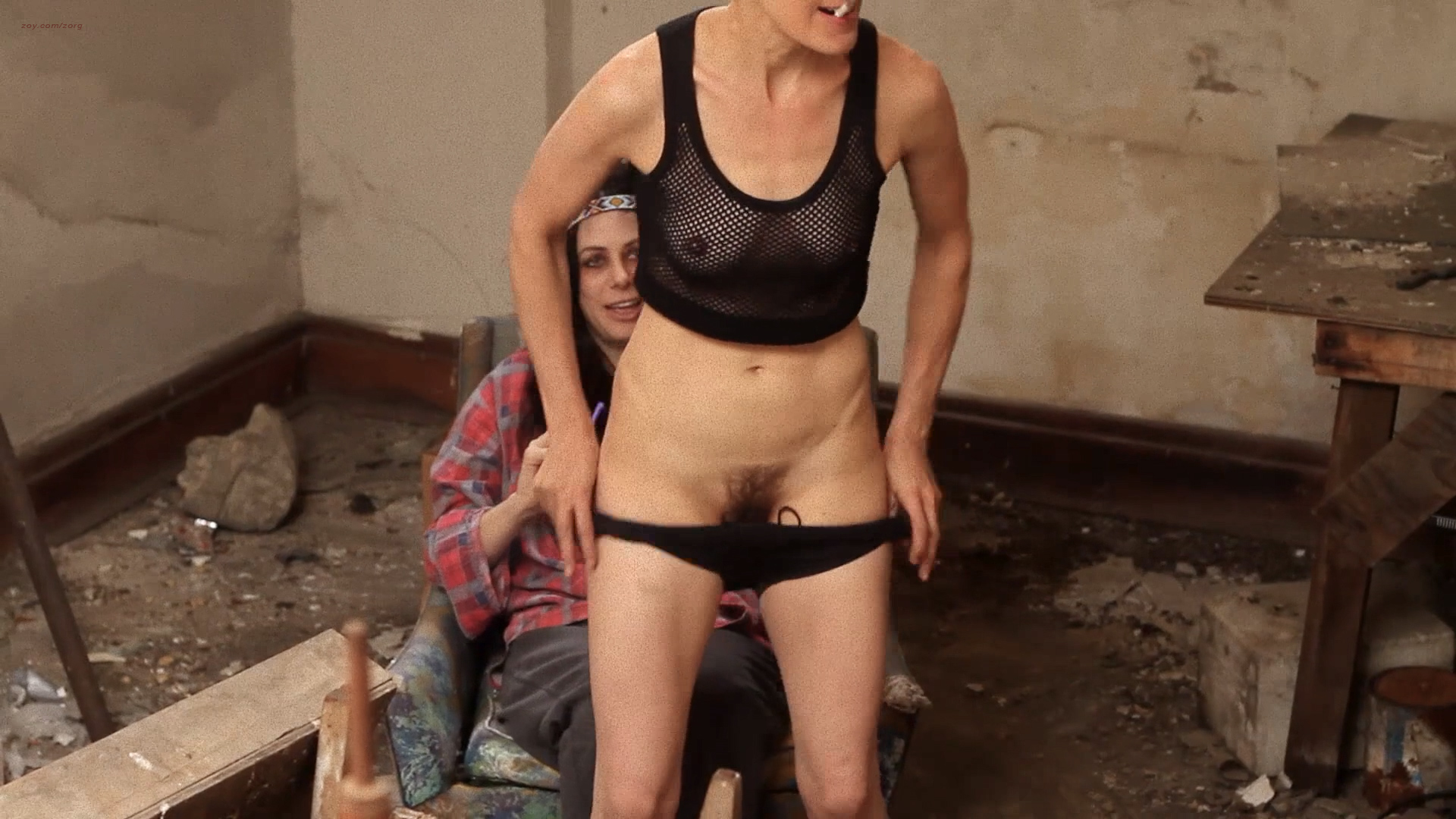 Amber Dawn Lee nude and Noelle Messier nude bush and lesbian sex - Black Tar Road (2016) HD 1080p (14)