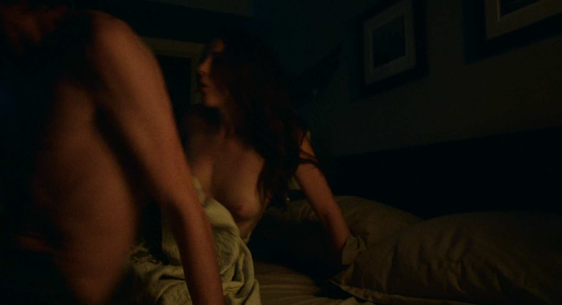 Morgan Saylor nude butt and nipple and Aubrey Reynolds nude boobs - Being Charlie ( 2016) HD 1080p (7)