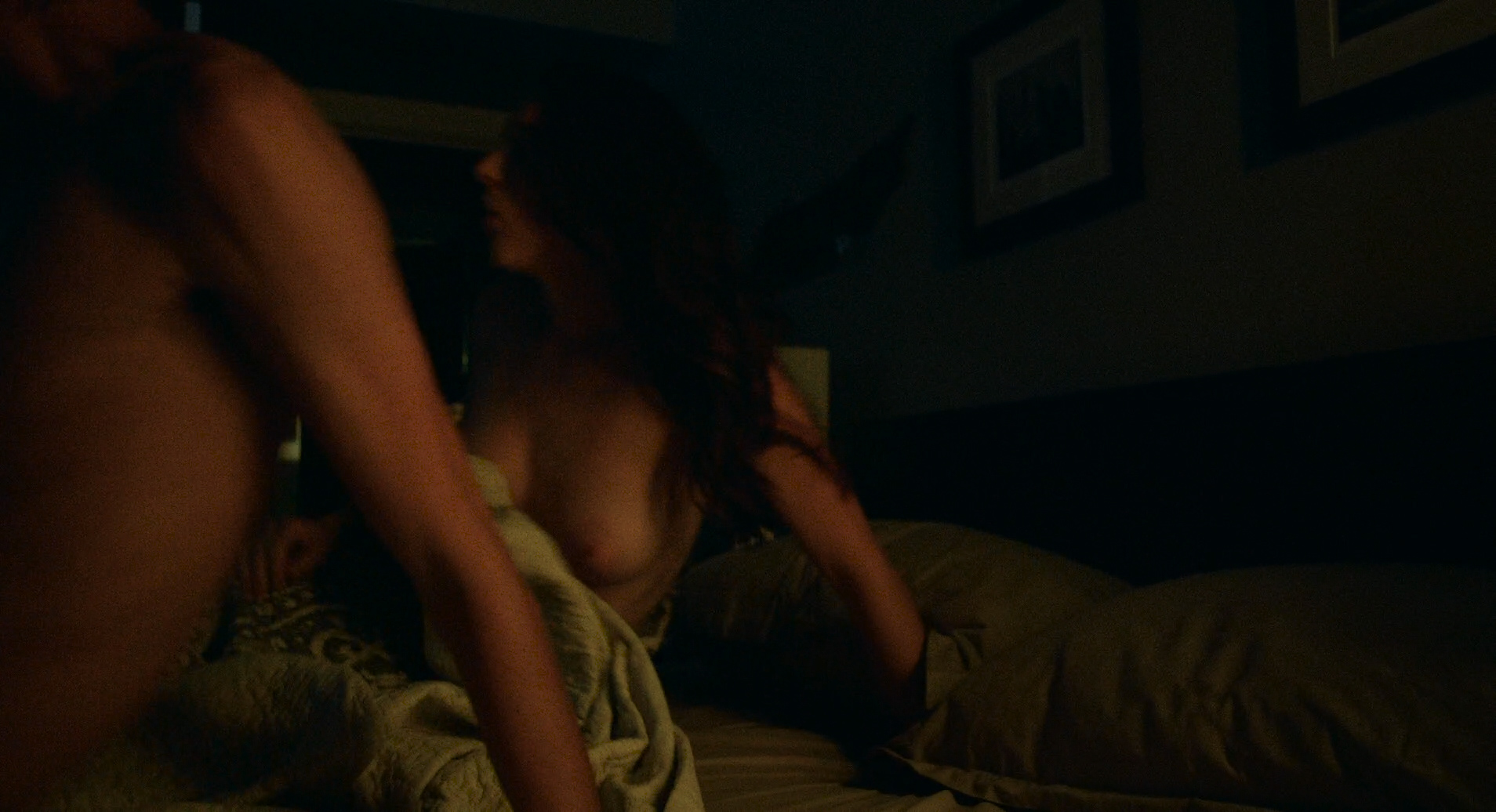 Morgan Saylor nude butt and nipple and Aubrey Reynolds nude boobs - Being Charlie ( 2016) HD 1080p (6)