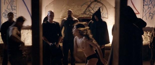 Sophie Dalah nude topless in brief scene - Satanic (2016) HD 1080p (1)