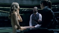 Evan Rachel Wood nude topless and butt Angela Sarafyan nude topless - Westworld (2016) s1e1 HD 1080p (8)