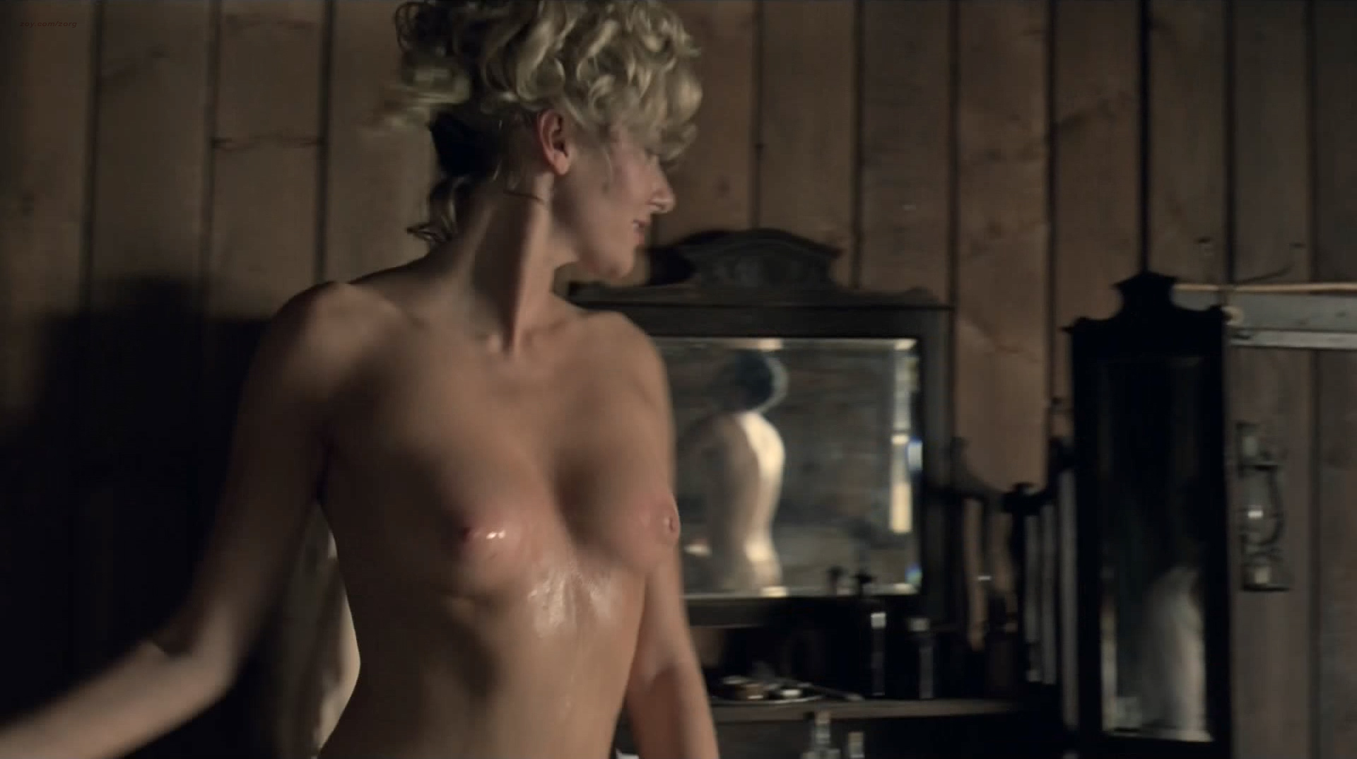 Evan Rachel Wood nude topless and butt Angela Sarafyan nude topless - Westworld (2016) s1e1 HD 1080p (4)