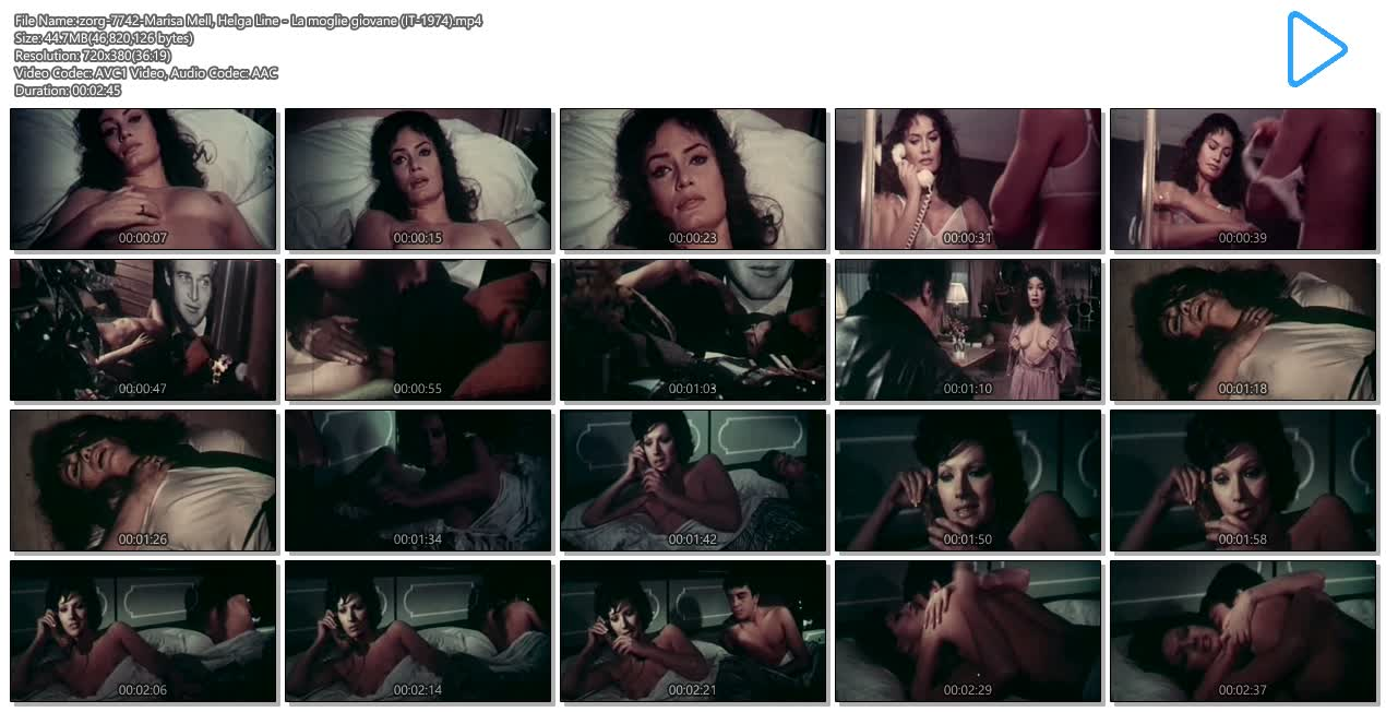 Marisa Mell nude topless and sex and Helga Line nude topless - La moglie giovane (IT-1974) (8)