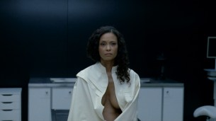 Thandie Newton nude bush and boobs Angela Sarafyan nude and Tessa Thompson butt naked - Westworld (2016) s01e07 HD 1080p (12)