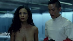 Thandie Newton nude bush and boobs Angela Sarafyan nude and Tessa Thompson butt naked - Westworld (2016) s01e07 HD 1080p (3)