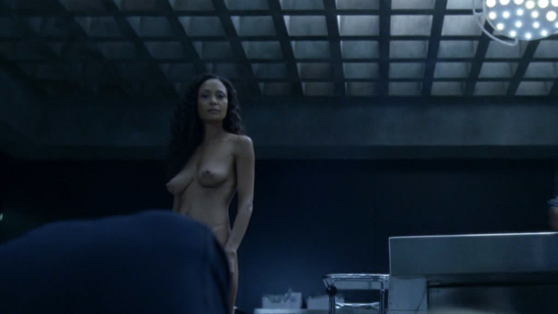 Thandie Newton nude bush and boobs - Westworld (2016) s1e8 HD 1080p (1)