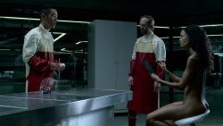 Thandie Newton nude topless and butt - Westworld (2016) s1e6 HD 1080p (1)