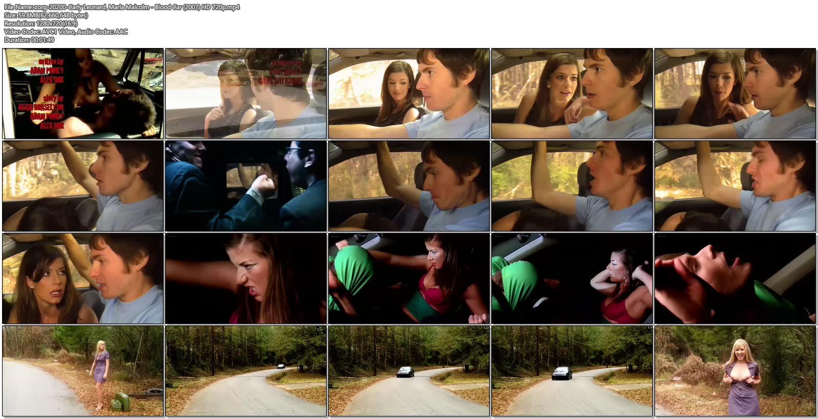 Carly Leonard nude Marla Malcolm nude boobs Katie Rowlett oral sex - Blood Car (2007) HD 720p (6)