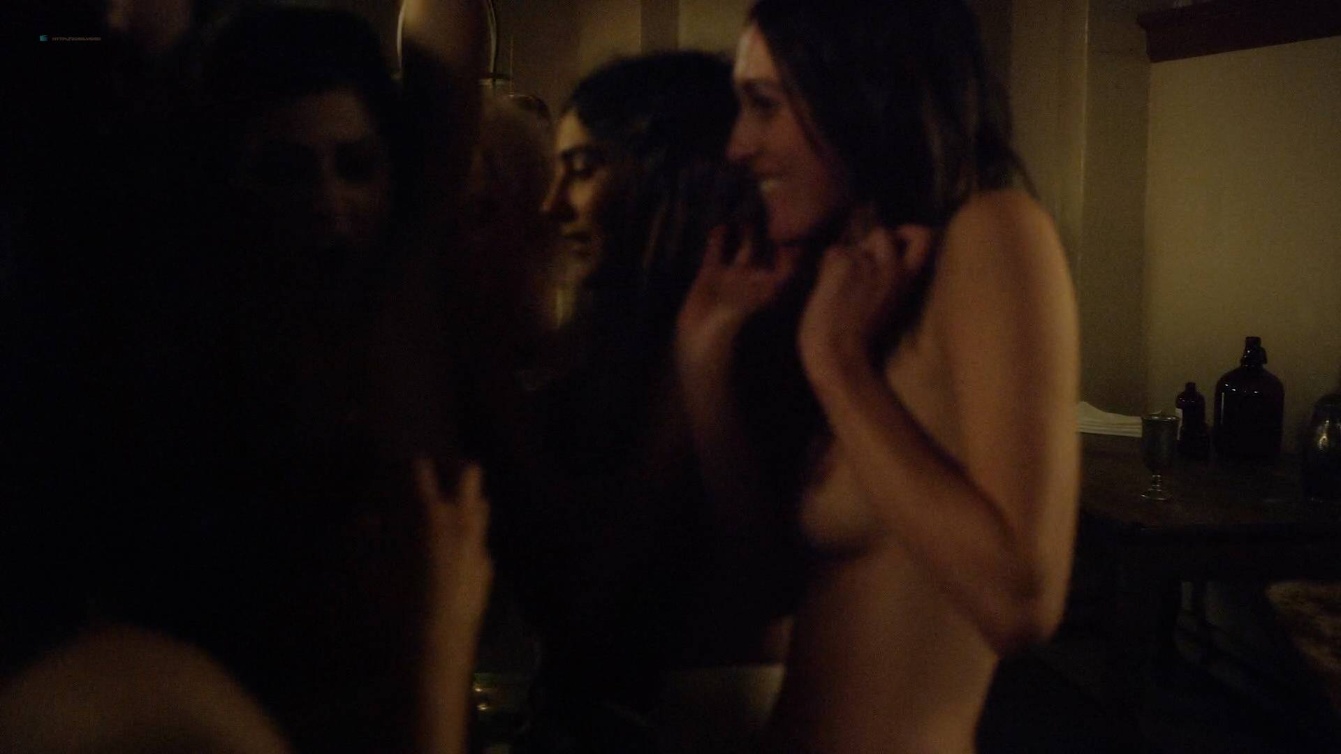 Allie Gallerani nude full frontal Amber Coney, Zoe Bleu, and other's nude too - The Institute (2017) HD 1080p Web (7)