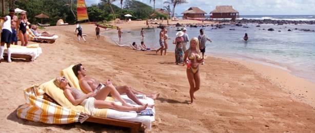 Anne Heche hot, wet bikini and c-true Jacqueline Obradors hot - Six Days Seven Nights (1998) HD1080p WEB (11)