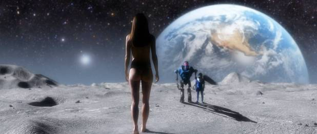 Sarah Butler nude and butt in thong - Moontrap: Target Earth (2017) HD 1080p Web (4)