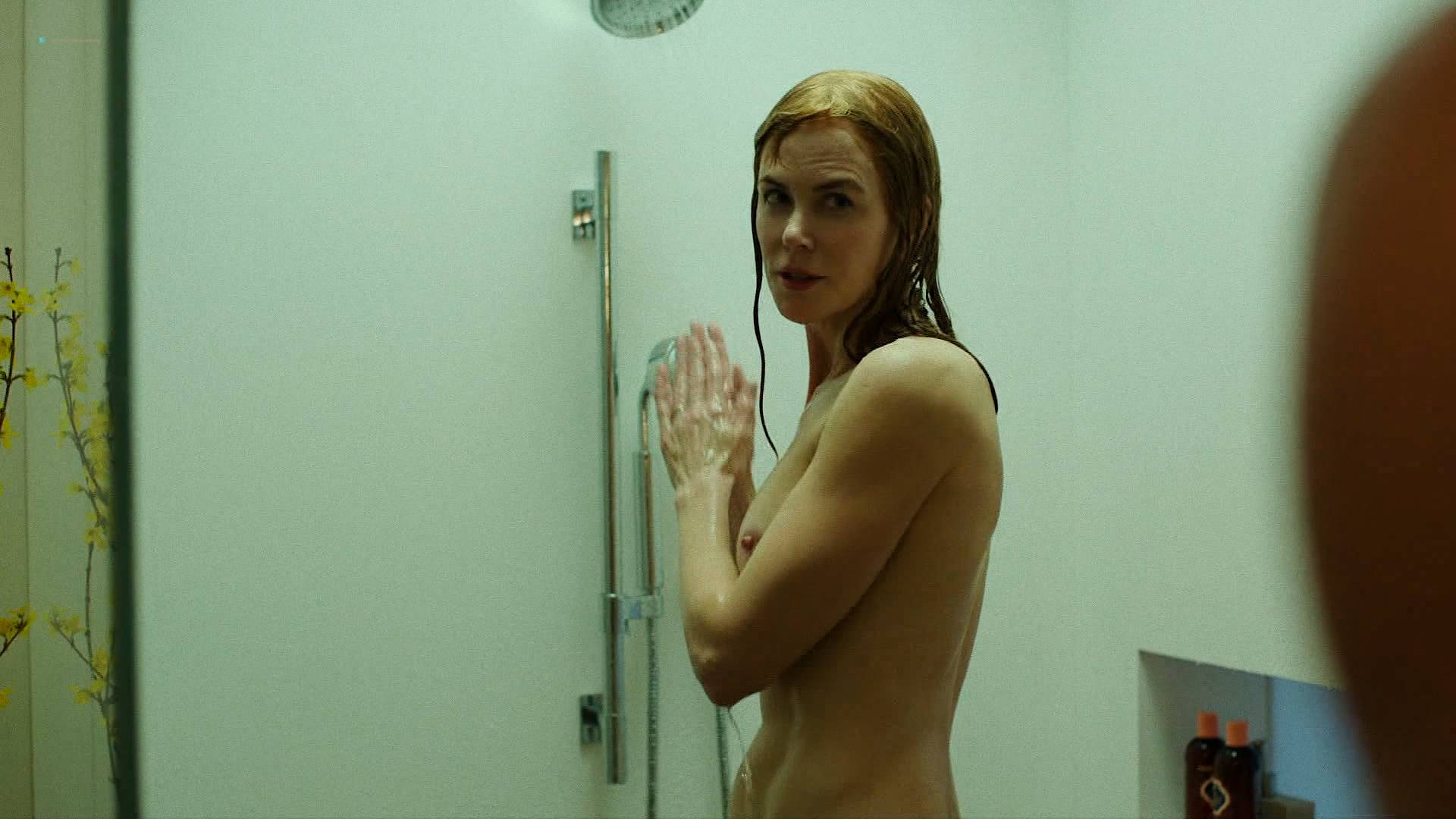 Nicole Kidman nude side boob and butt in the shower - Big Little Lies (2017) s1e7 HD 1080p Web (1)