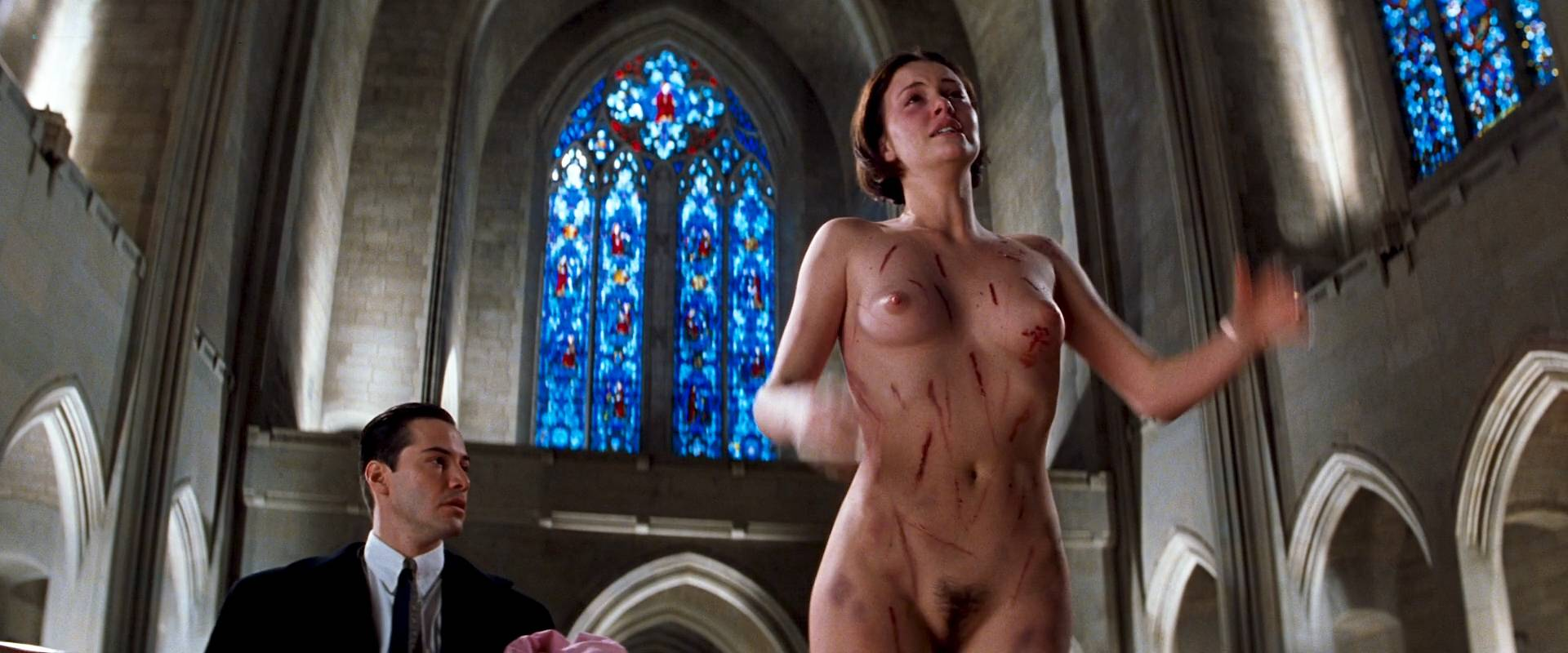 Charlize Theron Nude Full Frontal Connie Nielsen Nude Bush -4876