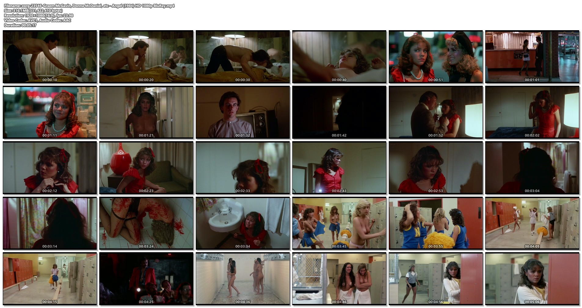 Graem McGavin nude Donna McDaniel and other's nude full frontal - Angel (1983) HD1080p BluRay (1)