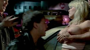 Linda Blair nude Linnea Quigley nude bush Suzee Slater and Rebecca Perle nude too - Savage Streets (1984) HD 1080p BluRay (12)