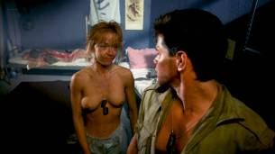 Linnea Quigley nude topless and sex in the shower - Creepozoids (1987) HD 1080p BluRay (8)