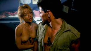Linnea Quigley nude topless and sex in the shower - Creepozoids (1987) HD 1080p BluRay (7)