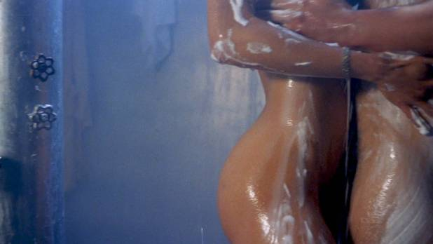 Linnea Quigley nude topless and sex in the shower - Creepozoids (1987) HD 1080p BluRay (6)