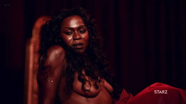 Yetide Badaki nude full frontal and sex – American Gods (2017) s1e2 HD 720-1080p (9)