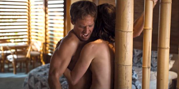 Cobie Smulders nude but covered in hot sex scene - Friends from College (2017) s1e7 HD 1080p Web (8)