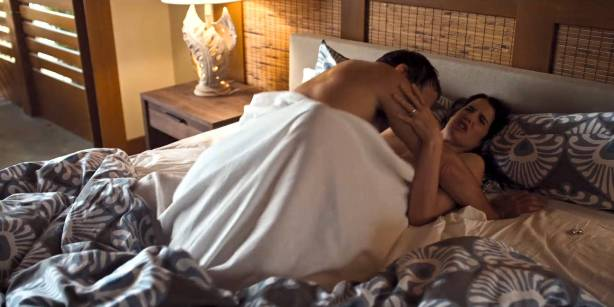 Cobie Smulders nude but covered in hot sex scene - Friends from College (2017) s1e7 HD 1080p Web (4)