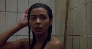 Irene Cara nude bush and boobs in the shower - Certain Fury (1985) HD 1080p BluRay (9)
