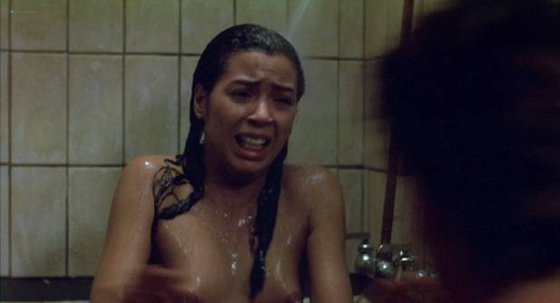 Irene Cara nude bush and boobs in the shower - Certain Fury (1985) HD 1080p BluRay (7)