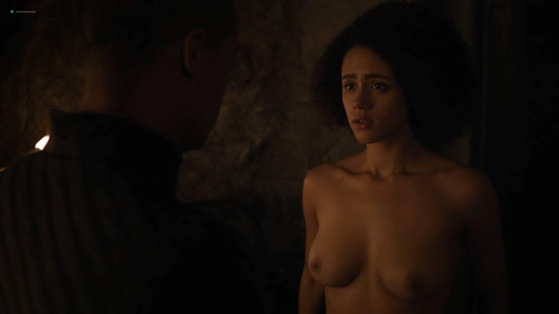 Nathalie Emmanuel nude topless and butt - GoT (2017) s7e2 HD 1080p Web (11)