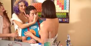 Rachel Riley nude topless Ivy Salazar other's nude too - Last Day of School (2016) HD 1080p (12)