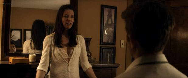 Evangeline Lilly hot sexy cleavages - Little Evil (2017) HD 1080 Web (6)