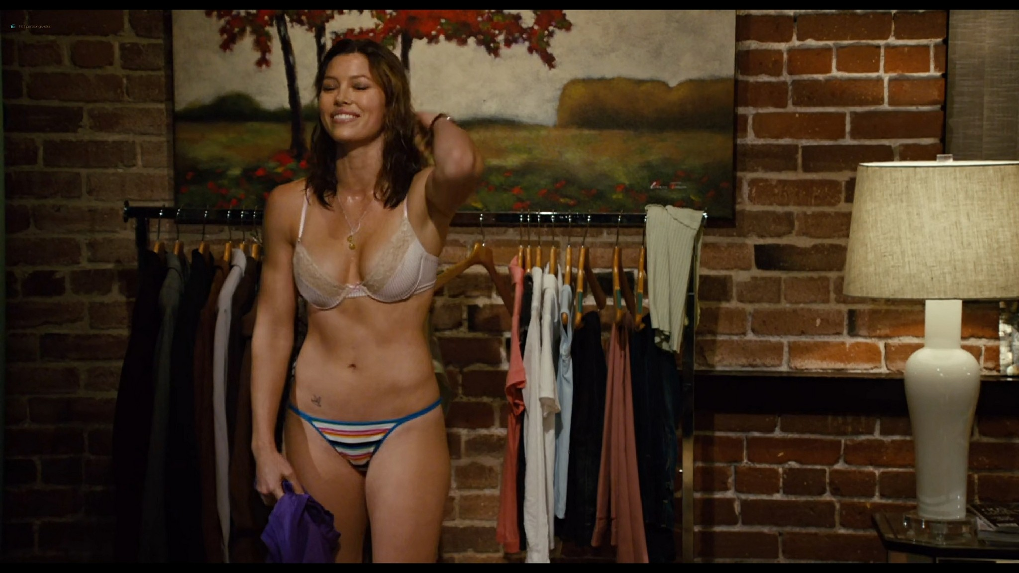 Jessica Biel hot sexy and Adam Sandler groping her boobs others sexy too - I Now Pronounce You Chuck & Larry (2007) HD 1080p BluRay (7)