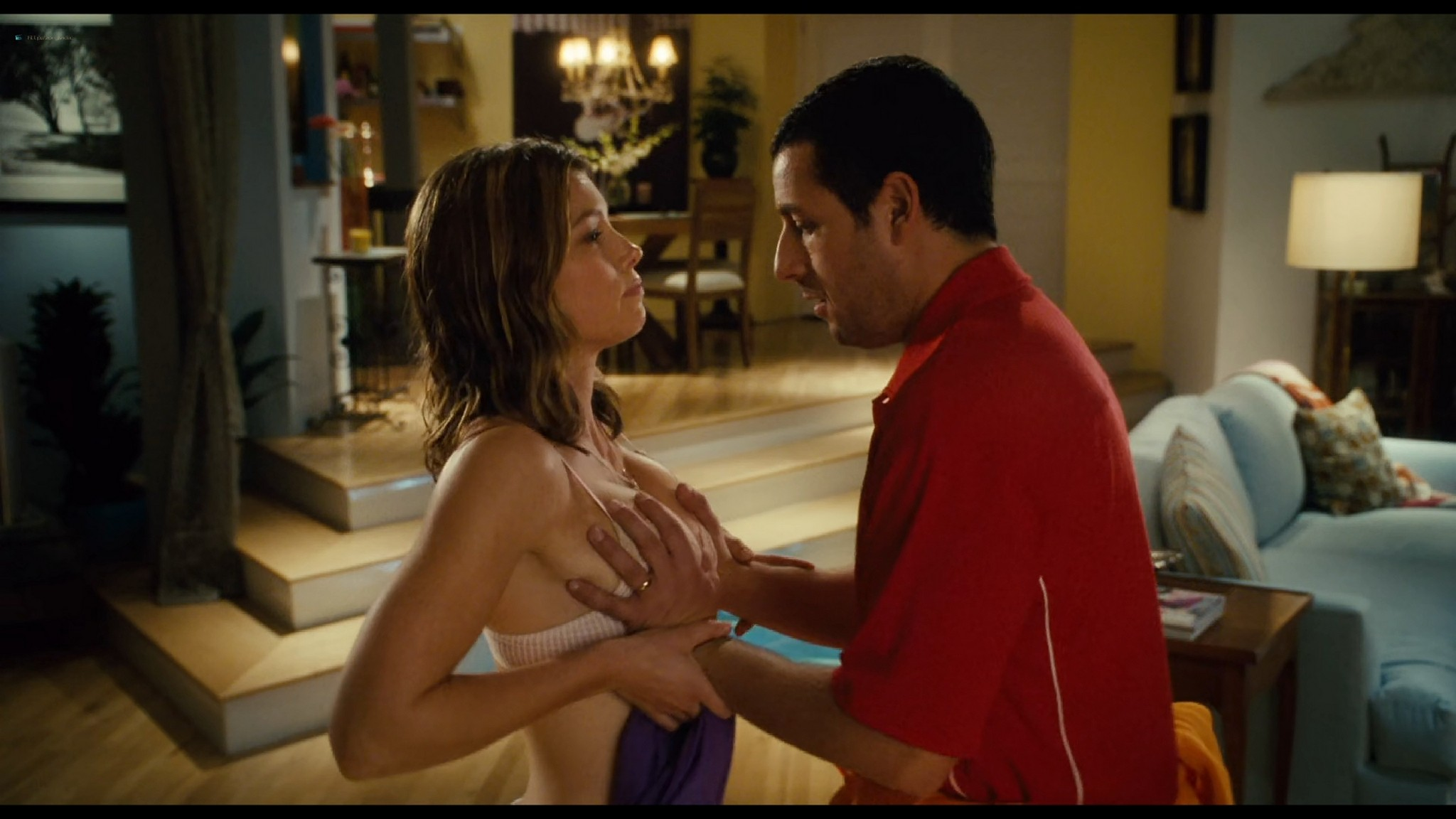 Jessica Biel hot sexy and Adam Sandler groping her boobs others sexy too - I Now Pronounce You Chuck & Larry (2007) HD 1080p BluRay (5)
